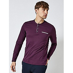 Burton - Greys long sleeve grandad purple t-shirt
