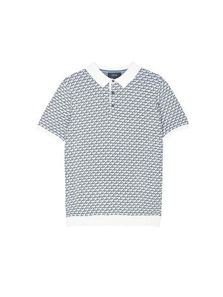 grey 1904 'Marlow' knitted polo Burton shirt gEqaTa