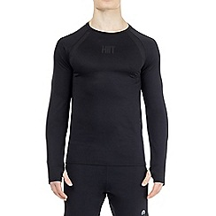 HIIT - Black long sleeve mesh panelled top