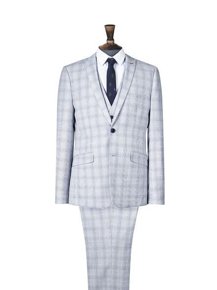 skinny grey check suit light Burton jacket 1904 B0gqwZa