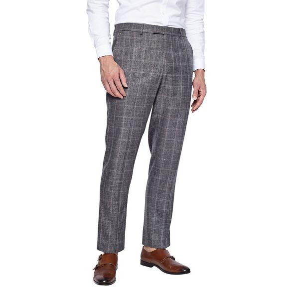 grey trousers slim check windowpane Burton suit 1904 fit USzxq5vZ4w