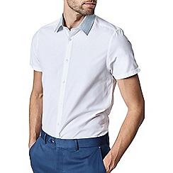 Burton - 1904 'Enfield' white short sleeve oxford shirt