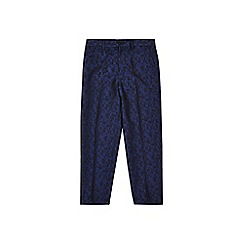 Outfit Kids - Boys' navy check party suit trousers