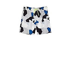Outfit Kids - Boys' blue abstract camo swim shorts