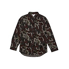 Outfit Kids - Boys' green long sleeve camouflage design over shirt