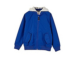 Outfit Kids - Boys' blue hooded bomber jacket