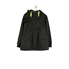 Outfit Kids - Boys' black and yellow zip mac