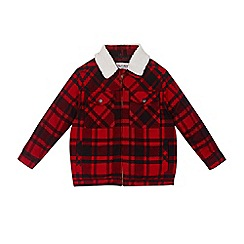 Outfit Kids - Boys' red checked borg jacket