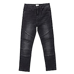 Outfit Kids - Boys' black skinny fit biker jeans