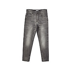 Outfit Kids - Boys' grey tapered distressed jeans
