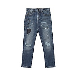 Outfit Kids - Boys' mid blue ripped skinny fit jeans
