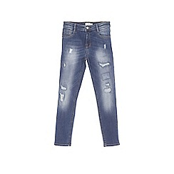 Outfit Kids - Boys' blue rip and repair skinny jeans