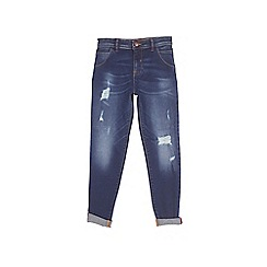 Outfit Kids - Boys' blue rip and repair tapered jeans