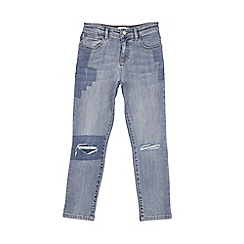 Outfit Kids - Boys' blue patchwork slim jeans