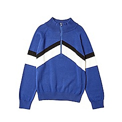 Outfit Kids - Boys' blue chevron knitted jumper