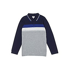 Outfit Kids - Boys' navy long sleeve knitted polo shirt