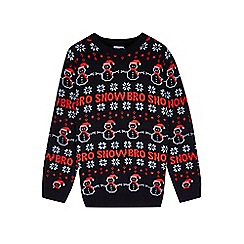 Outfit Kids - Boys' black snow bro Christmas jumper