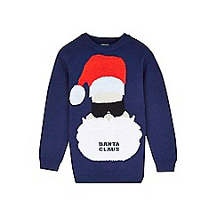 Outfit Kids - Boys' navy banta claus Christmas jumper