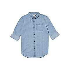 Outfit Kids - Boys' blue long sleeve light wash denim shirt
