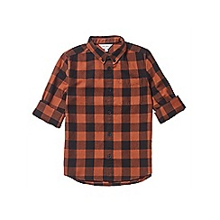 Outfit Kids - Boys' orange long sleeve checked shirt