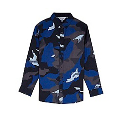 Outfit Kids - Boys' navy camouflage print shirt