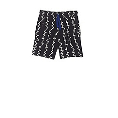 Outfit Kids - Boys' black zig zag jersey shorts