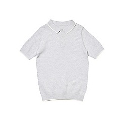 Outfit Kids - Boys' grey short sleeve knitted polo shirt