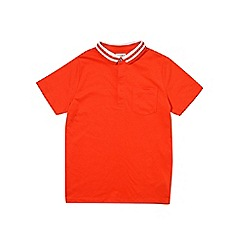 Outfit Kids - Boys' red short sleeve tipped polo shirt