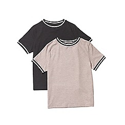 Outfit Kids - 2 pack boys' black and pink short sleeve t-shirts
