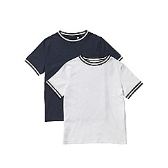 Outfit Kids - 2 pack boys' white and navy short sleeve t-shirts
