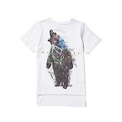 Outfit Kids - Boys' white short sleeve bear print t-shirt