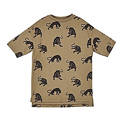 Outfit Kids - Boys' khaki jaguar t-shirt