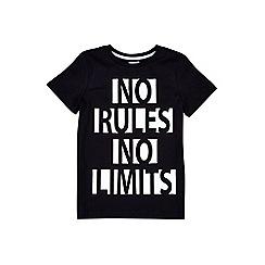 Outfit Kids - Boys' black 'no rules no limits' t-shirt