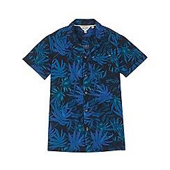 Outfit Kids - Boys' blue palm tree print shirt
