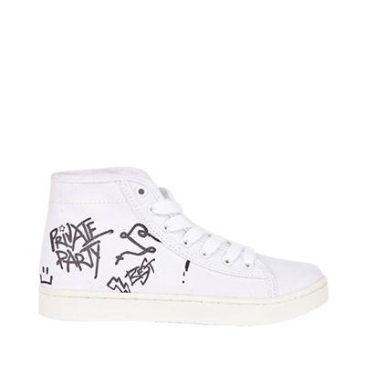 Outfit Kids - Boys' Boys' Boys' white graffiti hi-top trainers 1f89fa