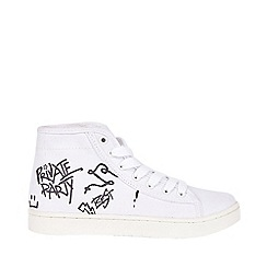 Outfit Kids - Boys' white graffiti hi-top trainers