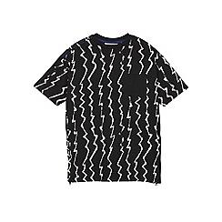 Outfit Kids - Boys' black zig-zag t-shirt
