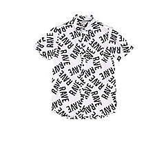Outfit Kids - Boys' white rave shirt