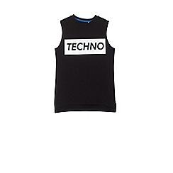 Outfit Kids - Boys' black techno print sleeveless t-shirt