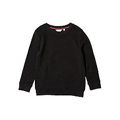 Outfit Kids - Boys' black ottoman crew neck sweatshirt