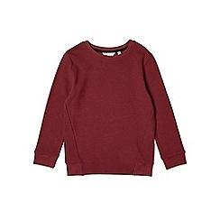 Outfit Kids - Boys' burgundy ottoman crew neck sweatshirt