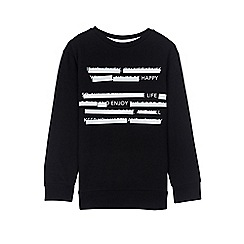 Outfit Kids - Boys' black worded sweat top