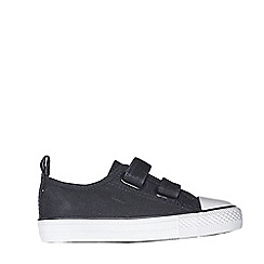 Outfit Kids - Boys' black canvas low top trainers