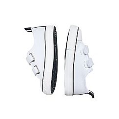 Outfit Kids - Boys' white canvas low top trainers