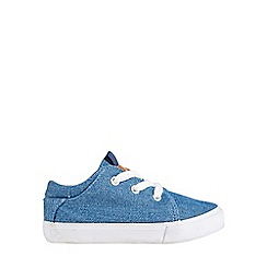 Outfit Kids - Boys' blue canvas plimsolls