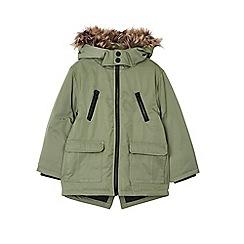 Outfit Kids - Boy's khaki faux fur hooded parka