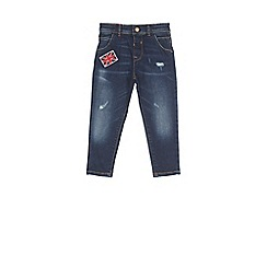 Outfit Kids - Boys' blue badge slouch fit jeans