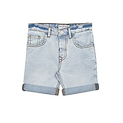 Outfit Kids - Boys' Blue Bleach Wash Denim Shorts