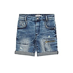 Outfit Kids - Boys' Blue Rip Repair Denim Shorts