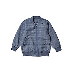 Outfit Kids - Boys' blue checked smart bomber jacket